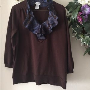 UNIQ 1/2sleeve light sweater NWOT